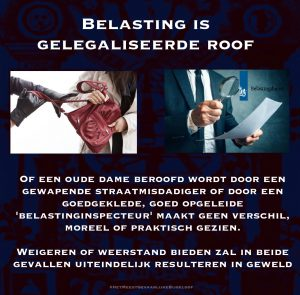 belasting is gelegaliseerde roof